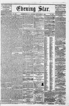 f w- -r ~ I S , - ' af ^ \ (ftaittg jte. . V26. XVI. WASHINGTON. D. C.. MONDAY. SEPTEMBER 17. 1860. N?. 2.865. ^i _ ? THE...