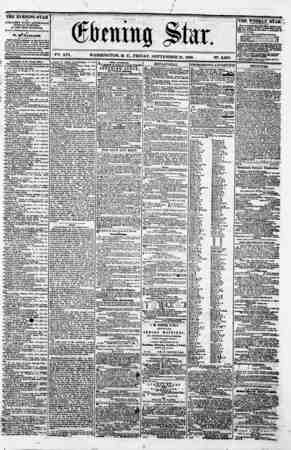 V^. XVI. WASHINGTON. D. C.. FRIDAY. SEPTEMBER 21. I860. N?. 2.869. THE EVENING STAR M pUBLISHED BVBRY AFTERNOON, (SUNDAYS...