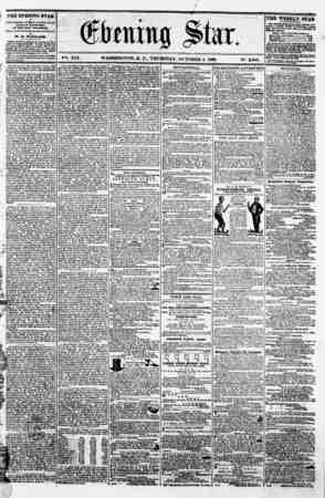 "f . ' ~ . ' f . btum% jit ax ? ??, . , ' I , ? 1 ? V?. XVI. WASHINGTON. P. C.. THURSDAY. OCTOBER 4. 1860. IS"". 2.380. | THE"