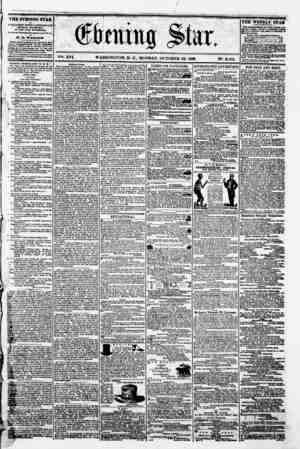 # ' (ffibtmug $kx. V2il- XV1 WASHINGTON, P. C.. MONDAY. OCTOBER 29. 1860. N?. 2.402. 1THE EVENING STAR u PUBLISHED BVBRT...