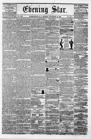 Jm ? 0 Qtkmttg flit V?t. XVI. WASHINGTON. D. C.. MONDAY. NOVEMBER 12. 1860. N?. 2.114. THE EVENING STAR is PUBLISHED EVERY