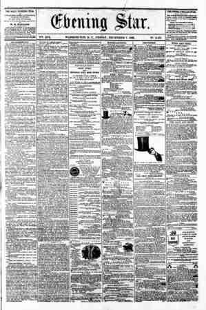"""0 ? # r'- . flv r """"> ?/ -l - I - ' ^ """" (Sftttutig ^tar. ? , ? V?. XVI. WASHINGTON. D. C.. FRIDAY. DECEMBER 7. 1860. N?. 2.436"""