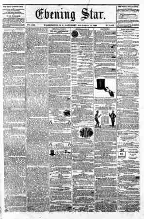 "V f. """" ?**. XVI. WASHINGTON. D. C.. SATURDAY. DECEMBER 15. 1860 N?. 2.443. - . _ ?) THE DAILY EVENING STAR i? PUBLISHED EVER"
