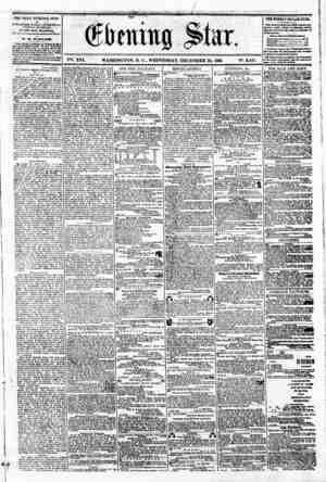VS. XVI. WASHINGTON. D. C.. WEDNESDAY. DECEMBER 26. 1860 N?. 2.451. * r THE DAILY EVENING STAR * i ?! FCJBLI3HBD EVERY...