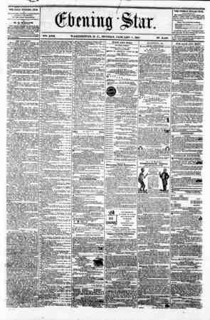 V?. XVII WASHINGTON. D. C.. MONDAY. JANUARY 7. 1861. N?. 2.460. THE DAILY EVENLNti STAB tt r UBLiSHBD B VSR Y A FTERNOOIf,