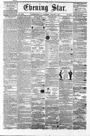 0$bmm% J&tar. Vgt. XVII. WASHINGTON. P. C.. TUESDAY. JANUARY 8. 1861 N?. 2.461 THE DAILY EVENING STAR u PUBLISHED B VER Y A