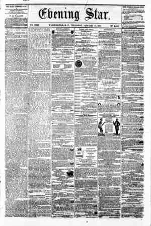 4 0 V^. XVII. WASHINGTON. D. C.. THURSDAY. JANUARY 10. 1861 N?. 2.463. THE DAILY EVENING STAR ir PITH LIS HE D EVERY...