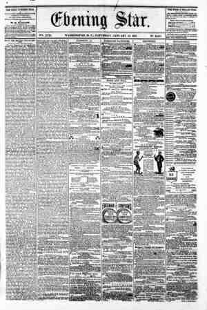 4 VSi. XVII. WASHINGTON. D. C.. SATURDAY. JANUARY 12. 1861 N?. 2.465 THE DAILY EVENING STAR n PUBU6USD XV BR T AFTERNOON...
