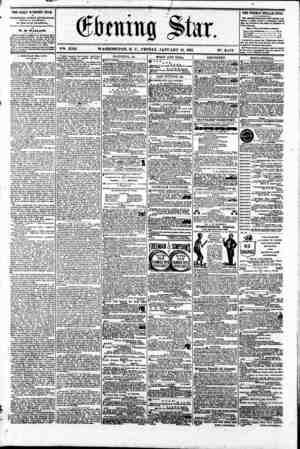 Gtaitig $tar. ? VSS. XVII. WASHINGTON. D. C.. FRIDAY. JANUARY 18. 1861 N?. 2.470 ^ THE DAILY EVENING STAR n PUBLISHED EVERT