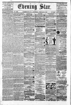 "- ' ' 0 ' M 0 __ I v -: "" # ' firming Star, V^. XVII. WASHINGTON. P. C.. SATURDAY. FEBRUARY 2. 1861 N?. 2.483 THE DAILY..."