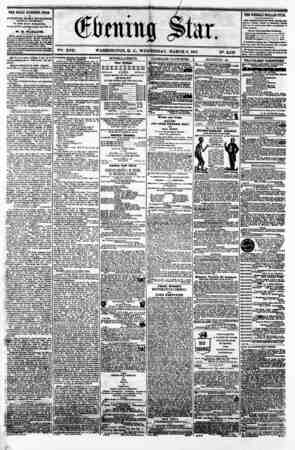 WASHINGTON. D. C.. WEDNESDAY. MARCH 6. 1861 THE DAILY EVENING STAR M rOBUSHED BVBR T AFTB&NOOIf, <SUNDAYS EXCEPTED,) IT TILE