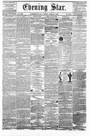 (Ekntng ?, . . V2S. XVII. WASHINGTON. D. C.. FRIDAY. MARCH 15. 1861 NH. 2.518. ^ THE DAILY EVENING STAR IS TUB LIS HBO B VB-R