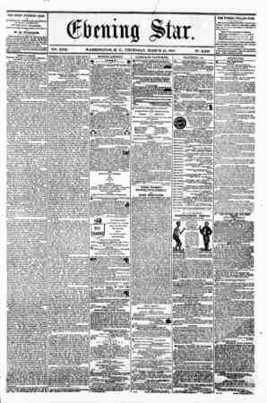 0 9 (Sftmttig ?>tax V?. XVII. WASHINGTON. D. C.. THURSDAY. MARCH 21. 1861. N?. 2.528 THE DAILY EVENING STAR n rent lis hx n e