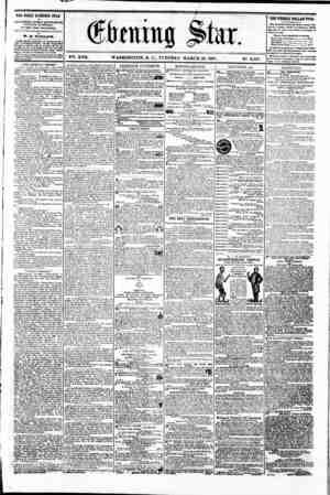J m $twc, V?. XVII. WASHINGTON. D. C.. TUESDAY. MARCH 26. 1861. % N?. 2.527. . W- | THE DAILY EVENING STAR ta PUBLISHED BVBRT