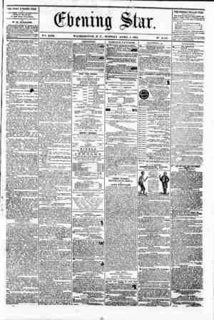 "# % Qtoitig ^tar. . . * . . ? V?. XVII. WASHINGTON. D. C.. MONDAY. APRIL I. 1861. N"". THE DAILY EVENING STAR M F JPUSHED B"