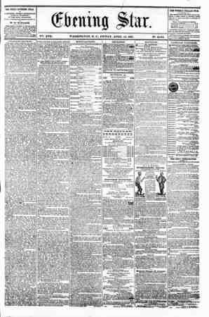 '.? * tf ! 4 ' l* t i (gtrenitvg Sta r. V01-. XVII. WASHINGTON. D. C.. FRIDAY. APRIL 12. 1861. N?. 2.542. ??? the daily...