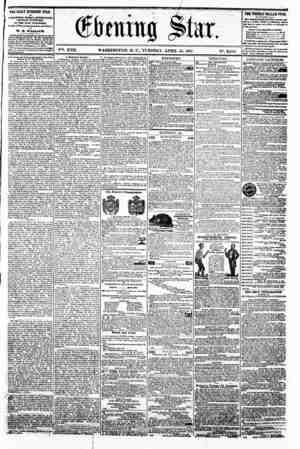 M % 9 ^ , # * ~ (jftahtg Star. V?>. XVII. WASHINGTON. D. C.. TUESDAY. APRIL 16. 1861. N?. 2.545. 1 | iTHE DAILY EVENING 8TAR