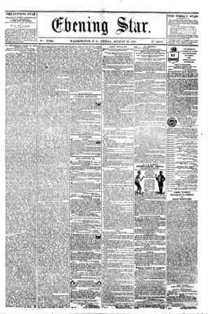 4 ?. v . . . -i - * ? - ; (Efotimg Mtr, V^. XVIII. WASHINGTON. D. C.. FRIDAY. AUGUST 16. 1861. N?. 2.611). THE EVENING STAR M