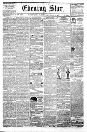 $ / (ifimimg Iter. V?-. XVIII. WASHINGTON. I). C . WEDNESDAY. AUGUST 21. 1861. N?. 2.65*. ^i THE EVENING STAR is PUBLISHED
