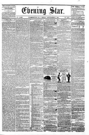 Oflmung Slur. V?*. XVIII. WASHINGTON. D. C . FRIDAY. SEPTEMBER 6. 1861. N?. 2.667. THE EVENING STAR M PUBLISHED EVERY...