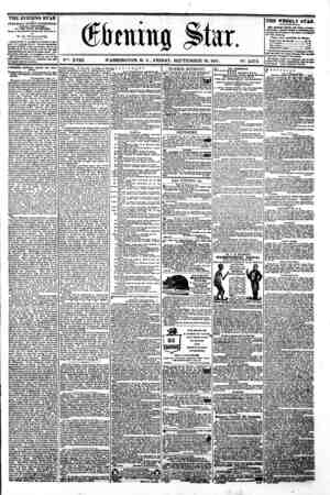 / (Ktaiug Ste. - i V^. XVIII. WASHINGTON. D. C . FRIDAY. SEPTEMBER 13. 1861. N9. 2.673. ^ i THE EVENING STAR u PUBLISHED...