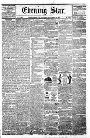 w 1 am M A A ?..T. __^_i^aLJL-^, -^ - - \ . Orb cuing ?>tar. V^. XVIII. WASHINGTON. D. C.. MONDAY. SEPTEMBER 16. 1861. N?.