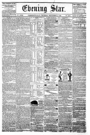 """_ / - t#r (gJtrmtna ^lar. v V?*. XVIII. WASHINGTON. D. C.. THURSDAY. SEPTEMBER 19. 1861. N"""". 2.678. THE EVENING STAR u..."""