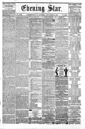(^tiling SI nr. V%. XVIII. WASHINGTON. D. C:. SATURDAY. SEPTEMBER 28. 1861. N9. 2.686. THE EVENING STAR a PUBLTSHRD BVBRT...