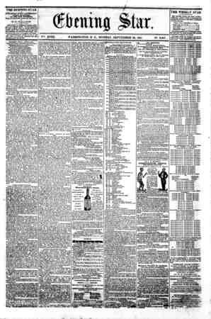 ^ssss^ssssss===s===s ?- ?- - - ' ' (ffrtning pfe *- i ? V^. XVIII. WASHINGTON. D. C.. MONDAY. SEPTEMBER 80. 1861. N9. 2.687.
