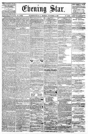 f 0 / s tiuug Slar. . .... I. I. ?????? V?6. XVIII. WASHINGTON. D. C. MONDAY. OCTOBER 14. 1861. N9. 2.699....