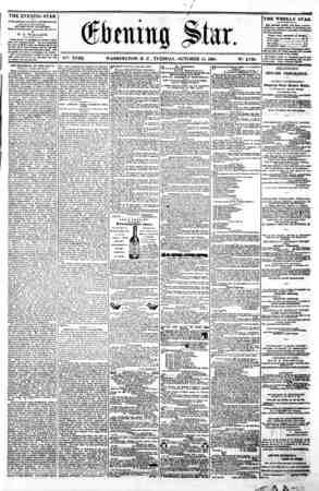 w / ^ ??? ? (? ton tit $ Star. i .. i..'.. i V?. XVIII. WASHINGTON. D. C. TUESDAY. OCTOBER 15. 1861. N?. 2.700. THE EVENING