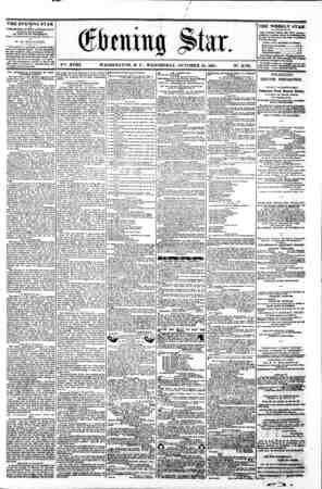 ? f / (Stoning Sta. ??*. XVIII. WASHINGTON. D. C . WEDNESDAY. OCTOBER 16. 1861. . N?. 2.701. THE EVENING STAR ? PUBLISHED...