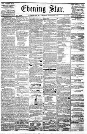 "/ r (gtaittg ?tar, _ _ . - - ? I -iiri till?-- -|?- 1 _ ._. V""~. XVIII. WASHINGTON. D. C . MONDAY. OCTOBER 2i. 1861. N?...."