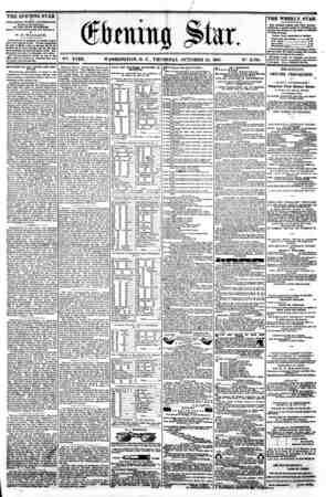 / $ 1 11 I I y * Star. i - - ^ * . a V?. XVIII. WASHINGTON. D. C . THURSDAY. OCTOBER 24. 1861. N?. 2.708. < c ^^ THE EVEMNG
