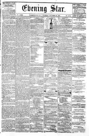 "4 h u- 0 CPbciwng Star. V?K XVIII. WASHINGTON. D, C . TUESDAY. OCTOBER 29. 1861. N"". 2.712. I Hot Shot.?Col R?b? kj? ?I..."