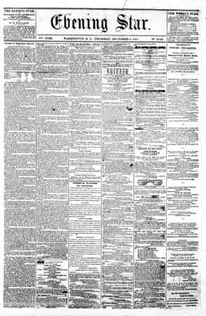 w ' { ^ 0 V?t. XVIII. WASHINGTON. D. C. THURSDAY. DECEMBER 5, 1861. N?. 2.743. THE EVENING STAR M PUBLISHED EV&R T...