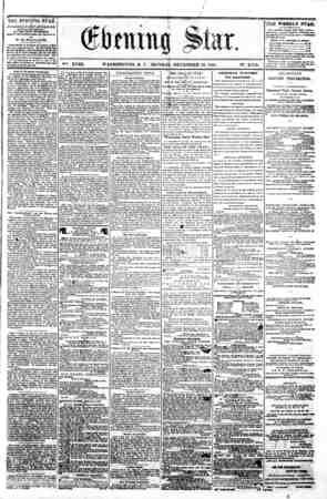 f i . . i_ / ? = V?fe. XVIII. WASHINGTON. D. C , MONDAt. DECEMBER 16. 1861. N?. 2.752. mm* n ii , ...i II [ THE EVENING ST AS