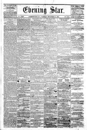 I 1 A I ' '* ** -* * T -A j. , ? ? ' r 1 A 9 > (fkmufi S la r. H V?. XVIII. WASHINGTON, D. C.. TUESDAY. DECEMBER 17- 1861.