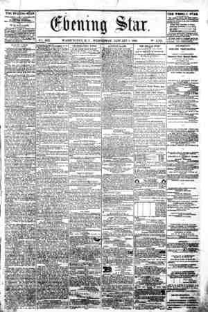 "/ ? >?... # 4 * 'i * [jf & \ < * J? ??? "" - '??' * . . ,i i - XIX. WASHINGTON, D. C . WEDNESDAY, JANUARY 1, 1862. N?. 2,765."