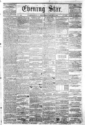 "i' *' """" 0 . . I ' >/ - fr? **s a V ; ^ - \ . V%. XIX. WASHINGTON, D C . WEDNESDAY, JANUARY 8, 1862. N?. 2,771. I THE..."