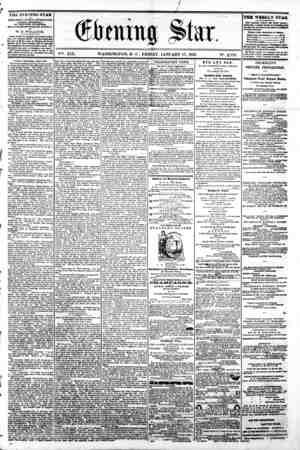 / X I 1 ' . . V?. XIX. WASHINGTON, D C . FRIDAY, JANUARY 17, 1862 N?. 2,779 ?^^ ft ' THE EVENING STAR u rUBUSHED EVERT...