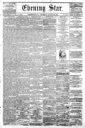 w ' V%. XIX. WASHINGTON, D C . THURSDAY, JANUARY 23, 1862 N?. 2,784. m nnTi i MIMMBMMMM?Mi THE EVENING STAR ? rUBLJZLi n...