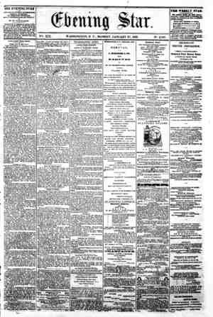 "/ :? ? '*? ?.? > .. wt'-in; ' * , , * "" v?fc. Xix. Washington, d c . Monday, January 27,1862. n*. 2,787. ? - -? the evening"
