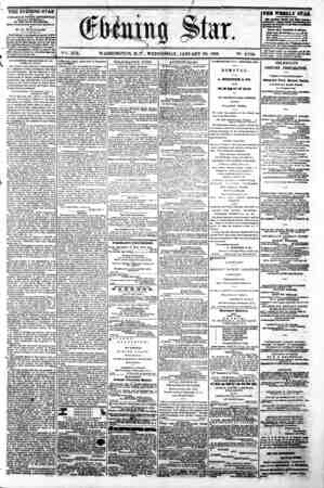 B ? y Vgfe. XIX. WASHINGTON, D.t, WEDNESDAY, JANUARY 29, 1862. N~. 2,789. : THE EVENING STAR n rUBLUSHED EVERT AFTBRIfOOJf,