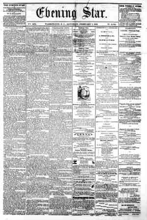 w ^b I a H || B ^ ^flpr B/^Lr H H w 3 ?4 ^1 ' t 4 ? r S? HH .'j. V%. XIX. WASHINGTON, D C , SATURDAY, FEBRUARY I, 1862. N?.