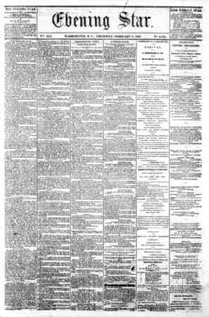 w * ^ ^j jN ||^ ^jP i^ &| ^ ^ ^ ^ ^S ? V?fe. XIX. WASHINGTON, D. C . THURSDAY, FEBRUARY 6, 1862. N?. 2,796. \ THE KVDiNINii