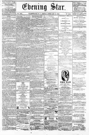 (fbening Slur. V^. XIX. WASHINGTON, D C . FRIDAY, FEBRUARY 14, 1862. IN?. 2,803. Viifc EVEMING STAR rVPLMHED RVRRT AFTERNOON,
