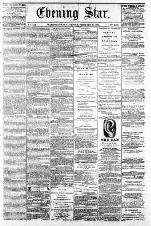 "m .'wm m -i r- 5 rrw1 (ftaitipg ^tar. \r""~. XIX. WASHINGTON, P. C . FRIDAY. FEBRUARY 21, 1862, iY\ 2,809 THE EVEiVHNU STAR"