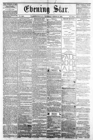 1 / ' firming Slur. V2-L. XIX. WASHINGTON, D. C . THURSDAY, MARCH 13. 1862. N?. 2,82(5. THE EVENING STAR M fUBUSHBD BVBRT...
