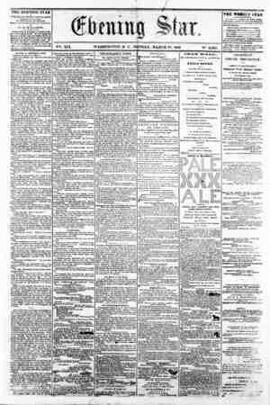 "* / r . "" f"" * == V^. XIX. WASHINGTON, P C , MONDAY, MARCH 17, 1862. NQ. 2,829, m?? THE EVENING STAE u rUbU&iiBD RVBRT..."